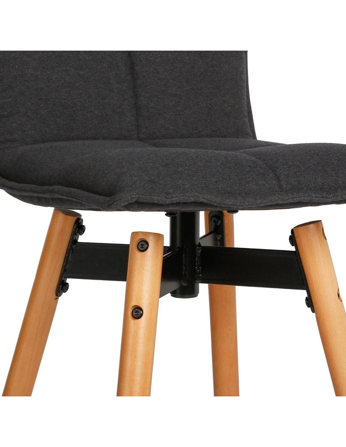tabouret de bar gris atiel en tissu. Black Bedroom Furniture Sets. Home Design Ideas