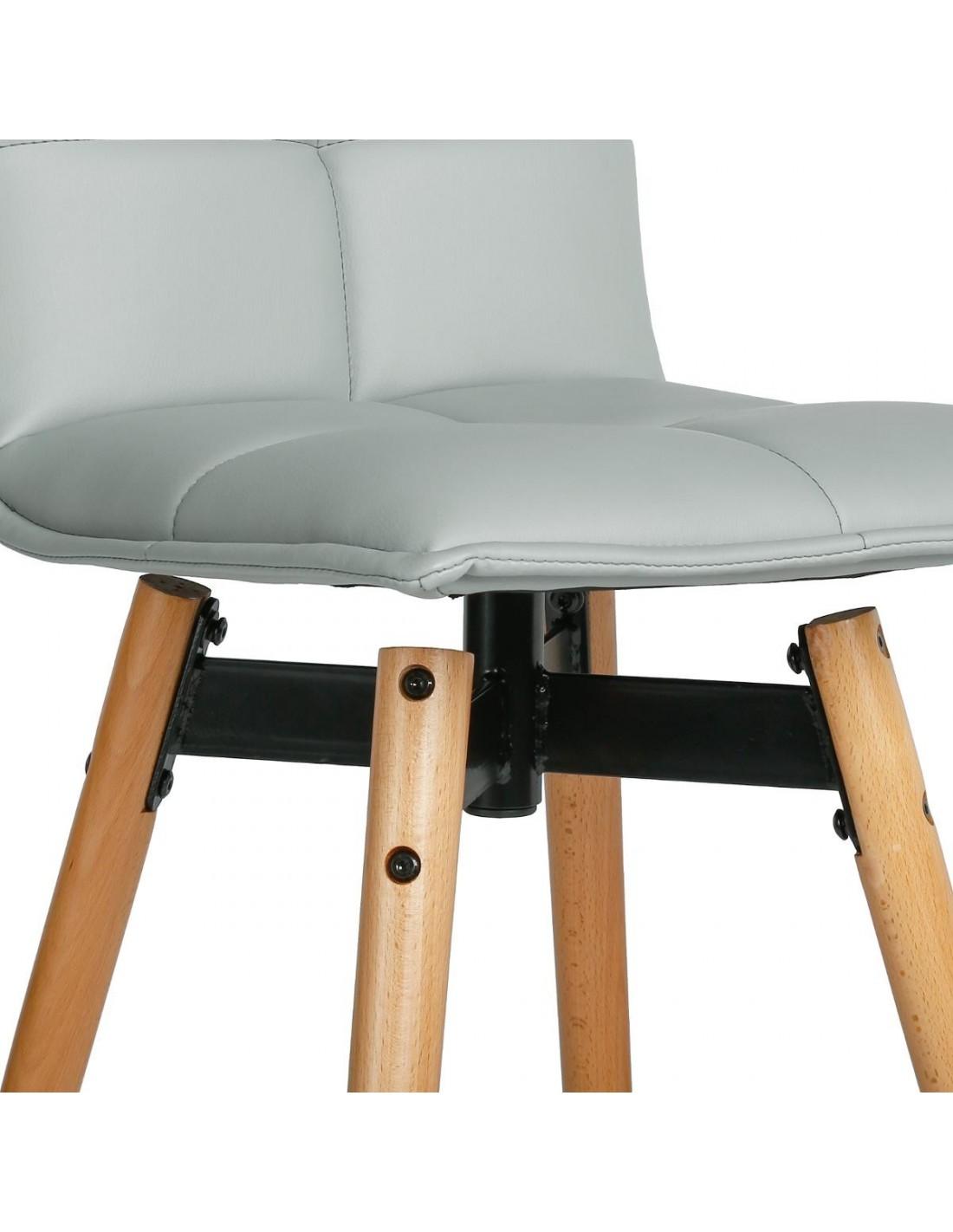 tabouret de bar gris atiel. Black Bedroom Furniture Sets. Home Design Ideas