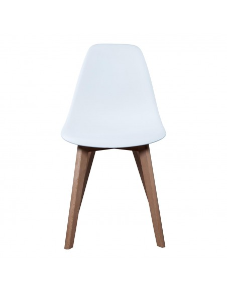 Chaise Scandinave Coque Pp Blanche