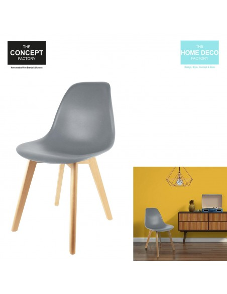 Chaise Scandinave Coque Pp Grise