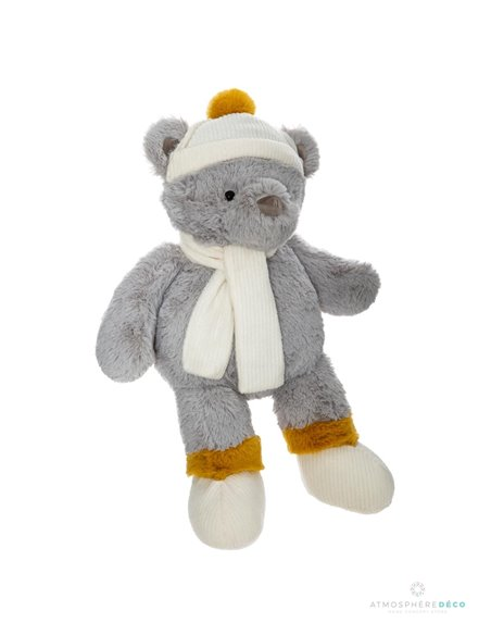 Peluche ours hiver H45